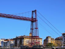 The Vizcaya Bridge in Portugalete Stock Photo