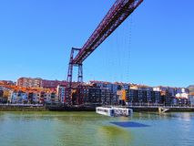 The Vizcaya Bridge in Portugalete Stock Image