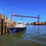 The Vizcaya Bridge in Portugalete Stock Photography