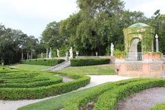 Vizcaya-Gärten Stockbilder