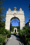 Vizcaya in Miami, USA. Gate of Vizcaya, Florida's grandest residence, once belongs to millionaire industrialist James Deering, is in downtown Miami, Florida, USA Royalty Free Stock Images