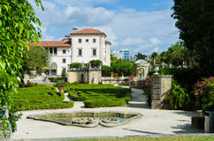 Vizcaya museum building and garden in Miami. Miami, FL, USA - November 29, 2012: Main builing of The Vizcaya Museum and Gardens Royalty Free Stock Photo