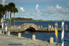 Vizcaya Museum and Gardens. Is the former villa and estate of businessman James Deering, on Biscayne Bay in the present day Coconut Grove neighborhood of Miami Stock Images