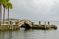 The Vizcaya Museum and Gardens. Is the former villa and estate of businessman James Deering, of the Deering McCormick-International Harvester fortune, on Royalty Free Stock Photos