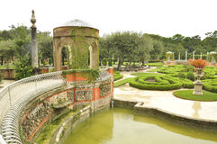 The Vizcaya Museum and Gardens. Is the former villa and estate of businessman James Deering, of the Deering McCormick-International Harvester fortune, on Stock Images