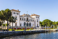 Vizcaya Museum and Gardens in Miami, Florida. The Vizcaya Museum and Gardens is the former villa and estate of businessman James Deering, located on Biscayne Bay Royalty Free Stock Image