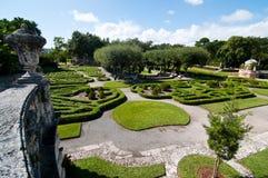 Vizcaya ogródy i muzeum Zdjęcie Royalty Free