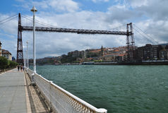 Vizcaya transporter bridge. Portugalete, Spain Stock Image