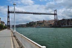 Vizcaya transporterbro. Portugalete Spanien Fotografering för Bildbyråer