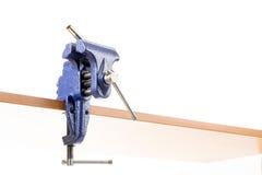 Vizeklammer mit Werkstück Stockfoto