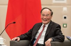 Vizepräsident der Republiks China Wang Qishan stockfotografie