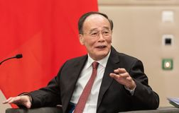 Vizepräsident der Republiks China Wang Qishan lizenzfreie stockfotos