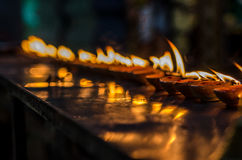Vizhakku. This small plates of light is use for prayers at Hindu temple Stock Images