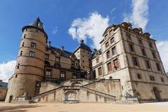 Le Chateau de Vizille. VIZILLE, FRANCE, March 31, 2018 : Chateau de Vizille is one of the most prestigious castles of the Dauphine Region. Today the Castle Stock Photos
