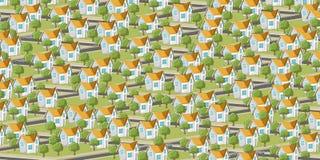 Vizinhança colorida do subúrbio Imagem de Stock Royalty Free