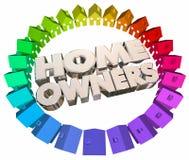 Vizinhança da associação das casas dos compradores dos proprietários de casa ilustração royalty free