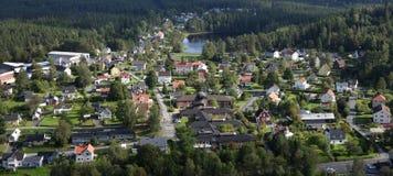 Vizinhança da cidade pequena Imagens de Stock Royalty Free