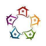 A vizinhança da comunidade abriga o logotipo ilustração stock