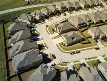 Vizinhança da novidade da vista superior perto de Dallas, Texas foto de stock