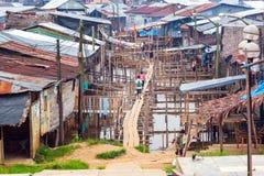 Vizinhança de Belen em Iquitos, Peru fotografia de stock