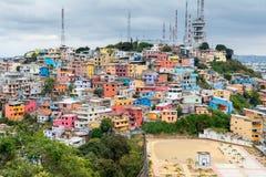 Vizinhança de Las Penas, Guayaquil, Equador Imagem de Stock
