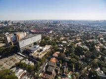 Vizinhança de Morumbi, Sao Paulo, Brasil fotos de stock