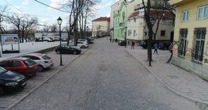 Vizinhança de St Michael Cathedral, Belgrado, vista aérea vídeos de arquivo
