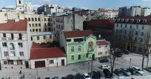 Vizinhança de St Michael Cathedral, Belgrado, vista aérea video estoque