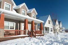 Vizinhança fria do inverno de Minnesota Imagens de Stock Royalty Free
