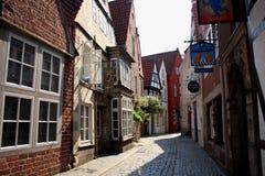 A vizinhança histórica do ` de Schnoor do ` em Brema Imagens de Stock Royalty Free
