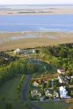 Vizinhança litoral aérea imagens de stock royalty free