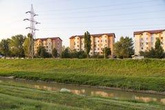 Vizinhança residencial Imagens de Stock