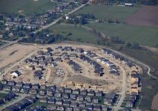 Vizinhança residencial de Orangeville, aérea fotos de stock