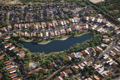 Vizinhança suburbana Foto de Stock Royalty Free