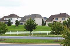 Vizinhança suburbana fotos de stock