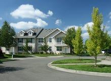 Vizinhança suburbana imagem de stock royalty free