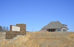Vizinhança suburbana de planeamento Homebuilder Imagem de Stock Royalty Free