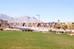 Vizinhança suburbana quieta Imagem de Stock Royalty Free