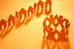 Vizinhança e a comunidade chain de papel Fotografia de Stock Royalty Free