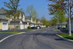 Vizinhança suburbana. Fotografia de Stock Royalty Free