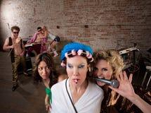 Vizinhos de arrelia em um partido Imagem de Stock Royalty Free