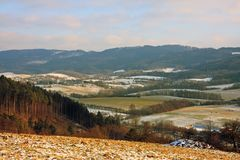Vizovice highlands. (Czech Republic) in winter Royalty Free Stock Photos