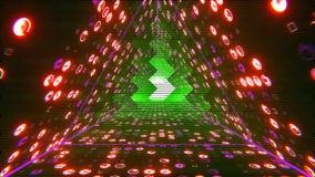 VJ σήραγγα τριγώνων διανυσματική απεικόνιση
