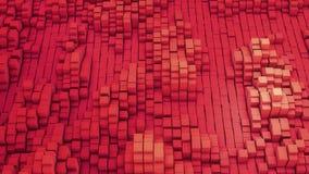 VJ czerwony tło wiele biali kwadraty ilustracji