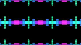 VJ DJ Equalise Levels Graphic Background. This 4K computer generated Audio Music Equalise Volume Levels Graphic could be used for VJs, DJs as backgrounds or stock illustration