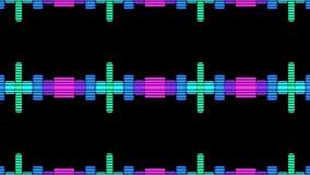 VJ DJ maakt Niveaus Grafische Achtergrond gelijk stock illustratie