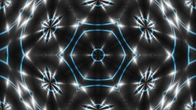 VJ Fractal white kaleidoscopic background. 3d rendering digital backdrop. stock illustration