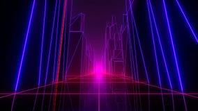 VJ futurystyczny miasto ilustracji