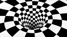 VJ infinite looped checkerboard tunnel. Seamless stock footage