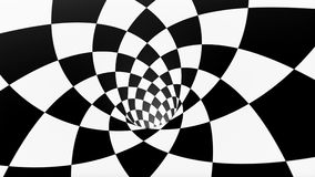 VJ oneindig voorzag schaakbordtunnel van een lus stock videobeelden
